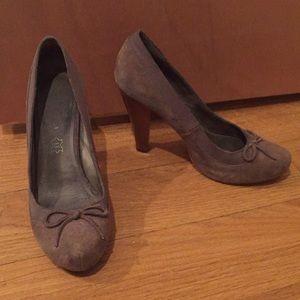 Aldo Grey Wooden Chunk Heels